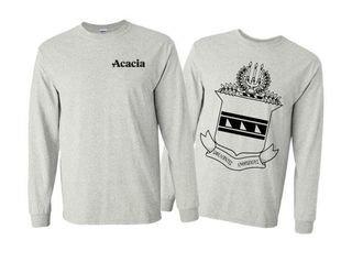 ACACIA World Famous Crest - Shield Long Sleeve T-Shirt- $19.95!