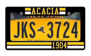 ACACIA Year License Plate Frame