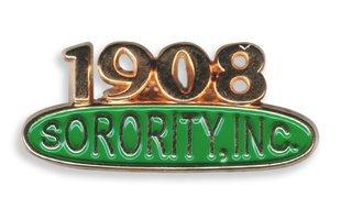 AKA 1908 Sorority Pin