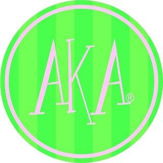 "AKA Bumper Stickers 4"" Round"