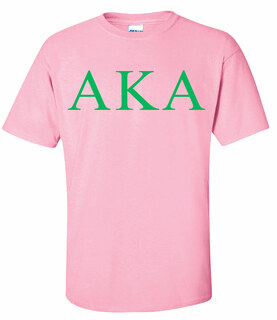 AKA Lettered Tee - $11.95 - MADE FAST!