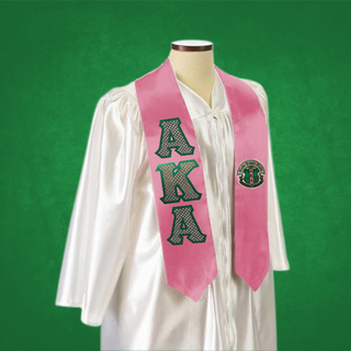 AKA Twill Lettered Greek Graduation Sash