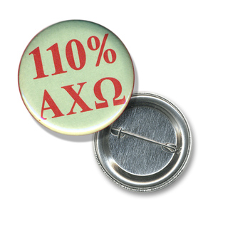 Alpha Chi Omega 110% Sorority Buttons