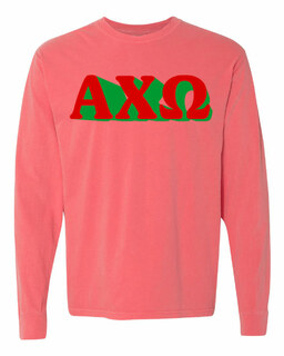 Alpha Chi Omega 3 D Greek Long Sleeve T-Shirt - Comfort Colors