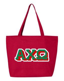 Alpha Chi Omega 3D Letter Tote Bag