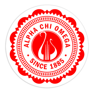 "Alpha Chi Omega 5"" Sorority Seal Bumper Sticker"