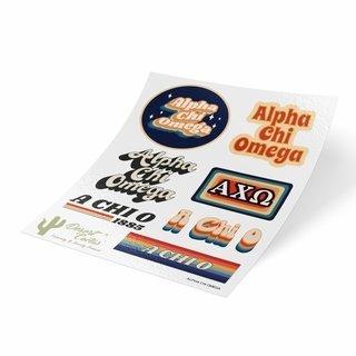 Alpha Chi Omega 70's Sticker Sheet