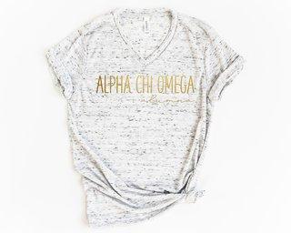 Alpha Chi Omega Alumna Vneck Tee