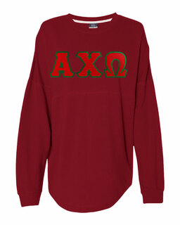 DISCOUNT-Alpha Chi Omega Athena French Terry Dolman Sleeve Sweatshirt