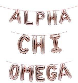 Alpha Chi Omega Banner Balloon Set