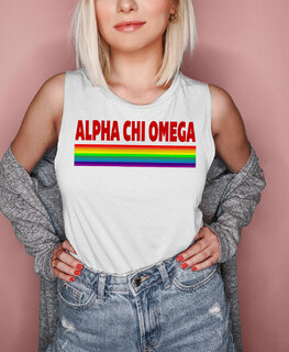 Alpha Chi Omega BELLA + CANVAS - Prism Muscle Tank