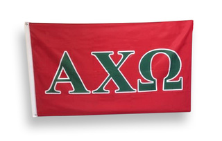 Alpha Chi Omega Big Greek Letter Flag