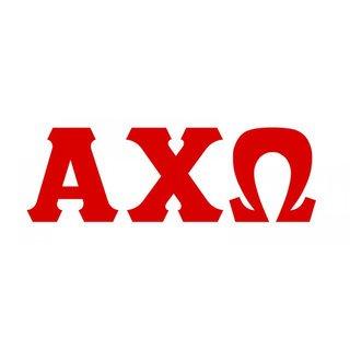 Alpha Chi Omega Big Greek Letter Window Sticker Decal