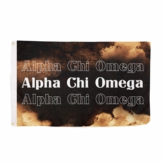 Alpha Chi Omega Bleach Wash Flag