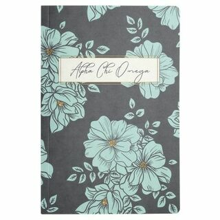 Alpha Chi Omega Blue Floral Notebooks