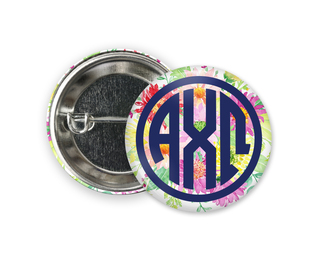 Alpha Chi Omega Bouquet Button