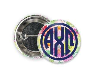Alpha Chi Omega Bouquet Button