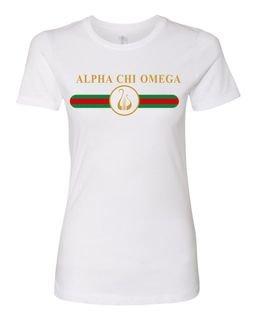 Alpha Chi Omega Boyfriend Golden Crew Tee