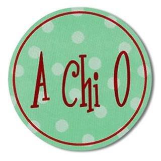 "Alpha Chi Omega Bumper Stickers 4"" Round"
