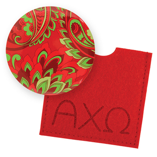 Alpha Chi Omega Button Mirror