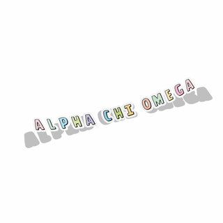 Alpha Chi Omega Cartoon Decal Sticker