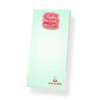 Alpha Chi Omega Long Notepad
