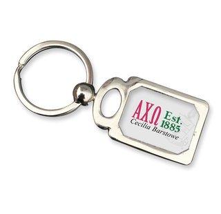 Alpha Chi Omega Chrome Crest Key Chain