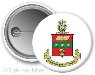 Alpha Chi Omega Color Crest - Shield Button
