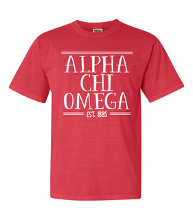 Alpha Chi Omega Comfort Colors Custom Heavyweight T-Shirt