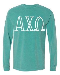 Alpha Chi Omega Comfort Colors Greek Long Sleeve T-Shirt