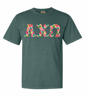 Alpha Chi Omega Comfort Colors Lettered Greek Short Sleeve T-Shirt