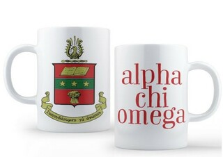 Alpha Chi Omega Crest - Shield Coffee Mug