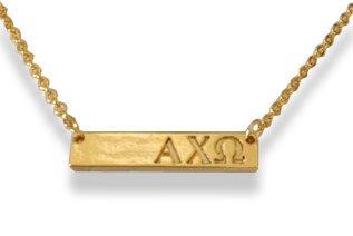 Alpha Chi Omega Cross Bar Necklace