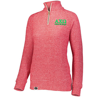 Alpha Chi Omega Cuddly 1/4 Zip Pullover