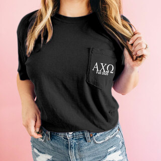 Alpha Chi Omega Custom Comfort Colors Pocket Tee