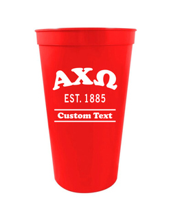 Alpha Chi Omega Custom Greek Cooper Stadium Cup