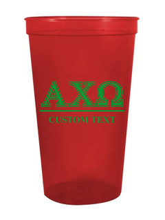 Alpha Chi Omega Custom Greek Symbolized Stadium Cup