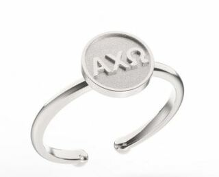 Alpha Chi Omega Disc Letter Ring-CLOSEOUT