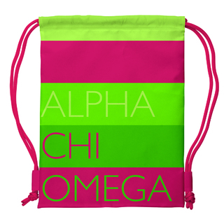 Alpha Chi Omega Drawstring Backpack
