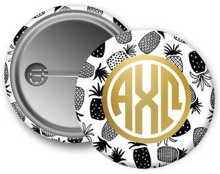 Alpha Chi Omega Faux Foil Button