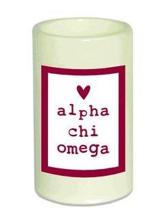 Alpha Chi Omega Flameless Candle