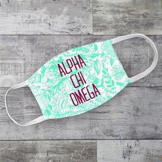 Alpha Chi Omega Floral Face Mask