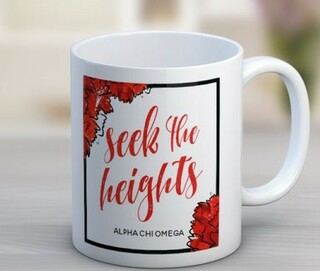 Alpha Chi Omega Floral Motto Coffee Mug