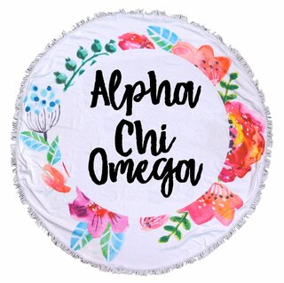 Alpha Chi Omega Fringe Towel Blanket