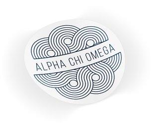 Alpha Chi Omega Geo Scroll Sticker Sticker