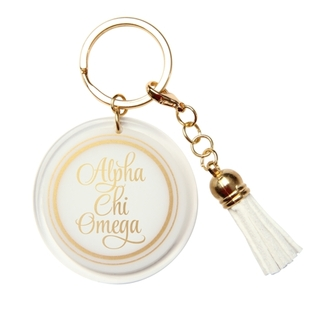 Alpha Chi Omega Tassel Key Chain