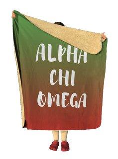 Alpha Chi Omega Gradient Sherpa Lap Blanket