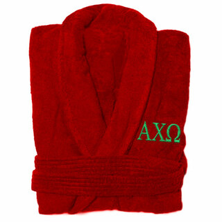 Alpha Chi Omega Greek Letter Bathrobe
