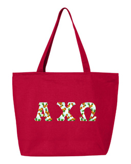 Alpha Chi Omega Greek Letter Zipper Tote