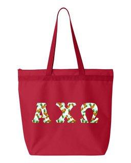 Alpha Chi Omega Greek Letter Liberty Bag